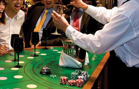 A casino with a twist: taste wines and gourmet food and place bets on what you sampled.